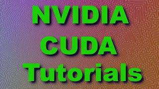 CUDA Tutorial 2: Basics and a First Kernel - PakVim net HD