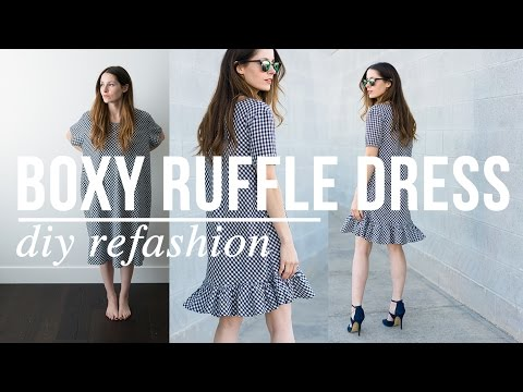 DIY Boxy Ruffle Dress Refashion