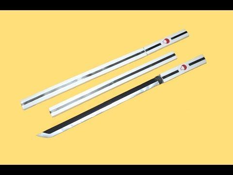 Como hacer una espada de papel - ESPADA CHOKUTO DE SASUKE - NARUTO
