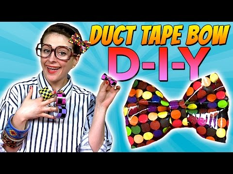 How To: Duct Tape Bow | Crafts for Kids with Crafty Carol
