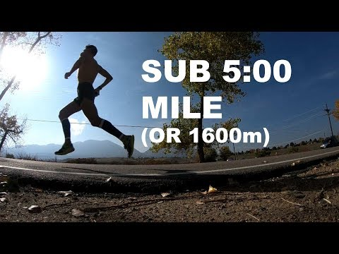HOW TO RUN A SUB 5-MINUTE MILE! | Sage Running Training and Tips