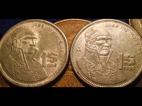 25 Cent to 1,000 Peso Coins Of Mexico To Look For