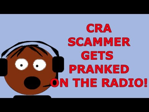 CRA SCAMMER Gets Pranked on the RADIO!!!
