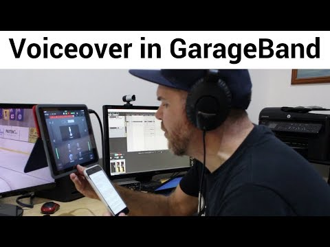 Voiceover Recording in GarageBand iOS - Using the Internal Mic (+ Music and iMovie Editing)