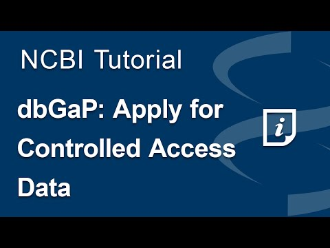 dbGaP: Apply for Controlled Access Data