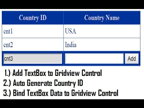 Add TextBox to Gridview FooterRow with Auto Generate ID