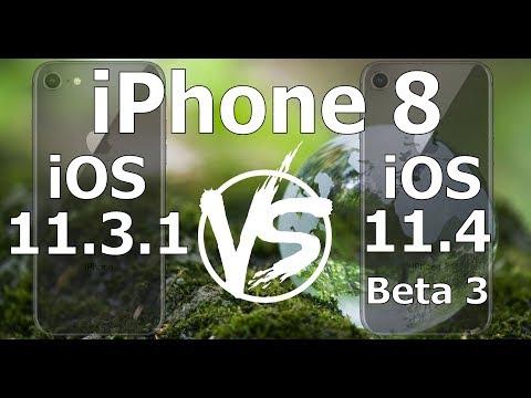iPhone 8 : iOS 11.4 Beta 3 vs iOS 11.3.1 Speed Test Build 15F5061d