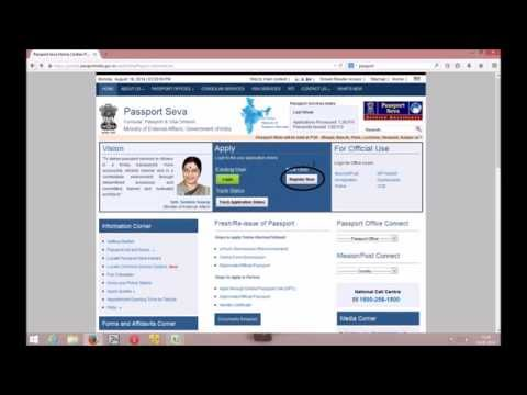 Fresh Passport Slot Booking Process
