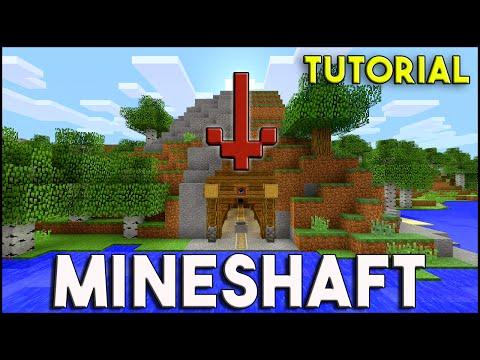 Minecraft Tutorial: MINESHAFT / Minecart Station Tutorial | Survival Build