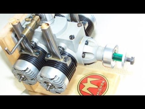 Nitro:  4 cylinder double twin  model engine RC