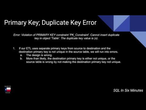 (ETL) Violation of PRIMARY KEY constraint 'PK_Constraint' - Different Source and Destination Keys