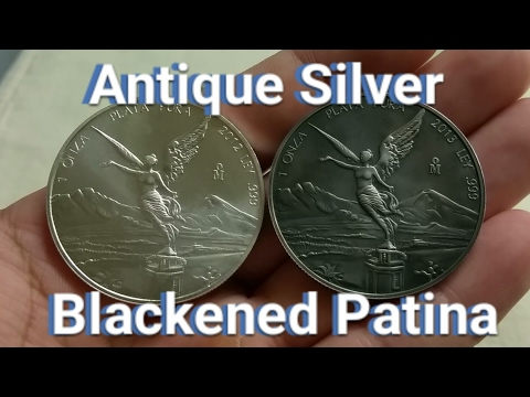 How to Antique Silver Bullion Coins - Blackened Patina Finish!