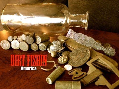 Metal Detecting a Gold Rush Mining Town Finds Bottles, Bullets and Jewelry!