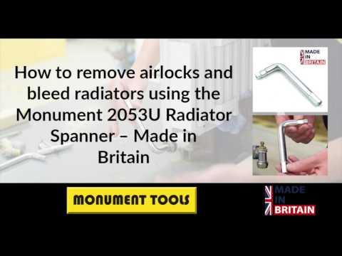 The Monument Radiator Valve Spanner - 2053U – For removing  airlocks and Bleeding Radiators