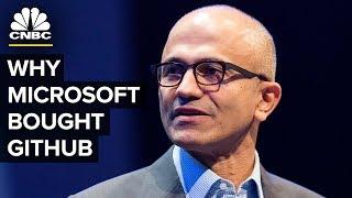 Satya Nadella Talks Microsoft GitHub Acquisition