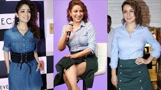 Tisca chopra and Yami Gautam Spotted At The PROJECT EVE Store Launch