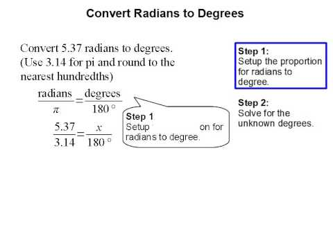 Convert Radians to Degrees