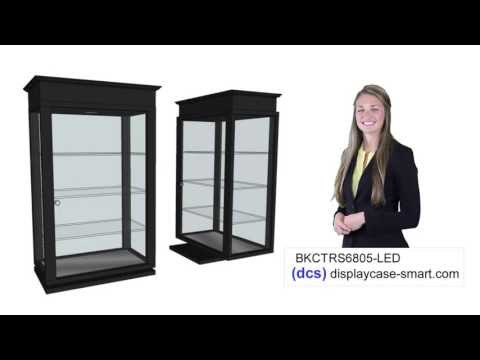 Black Rectangular Counter Top Spinner Display Case