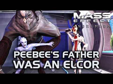 Mass Effect Andromeda - Peebee's father was an Elcor + Ryder breaks her neck