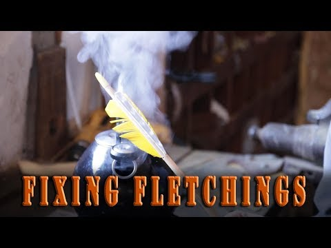 How to Repair damaged arrow fletchings with steam