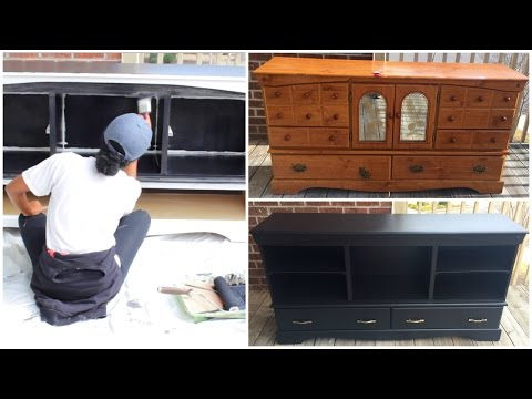 DIY |  Entertainment Center (Furniture Makeover)