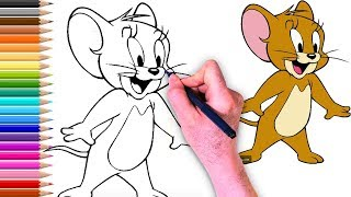 طريقة رسم جيري How To Draw Jerry