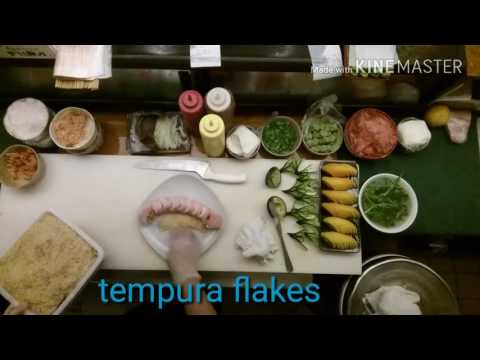 How to make a  super shrimp tempura roll with soy paper