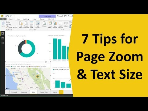 How to Change the Page Zoom and Text Size in Power BI