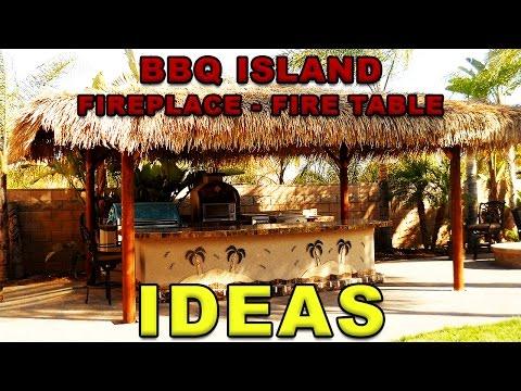 BBQ Islands  - Outdoor Fireplace Ideas  -  Extreme Backyard Designs