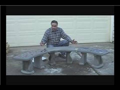 Make a Concrete Garden Bench : Personalize a Concrete Garden Bench