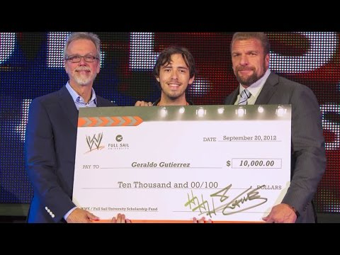 WWE Awards Scholarship to Full Sail University Student During NXT Taping