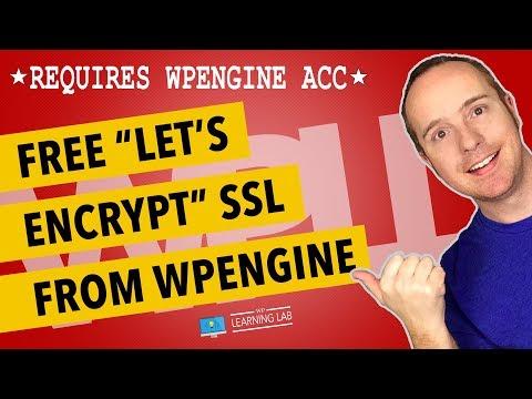 WPEngine SSL - Set It Up For Free - WPEngine Uses Let's Encrypt SSL