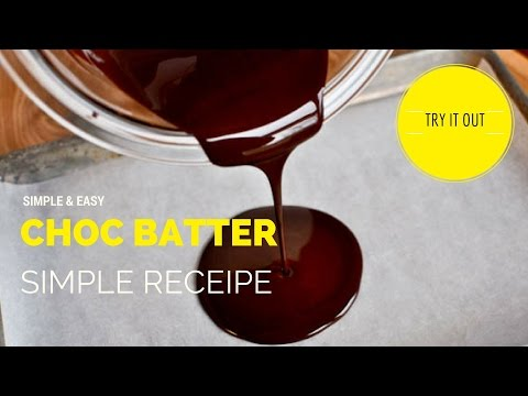 How to Make a Simple & Easy Smooth Chocolate Batter.