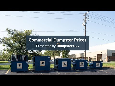 Commercial Dumpster Rental Prices | Dumpsters.com