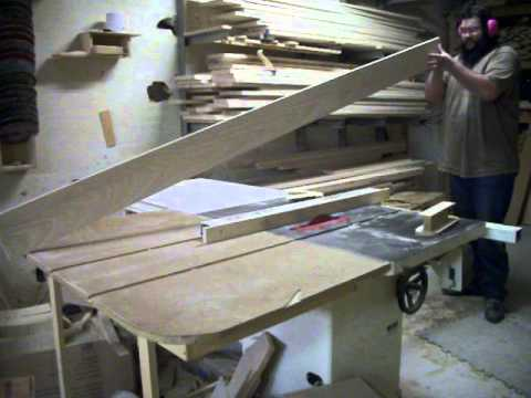 How to cut long stock without help on the table saw.