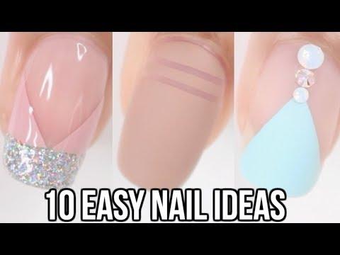 10 EASY Nail Ideas! Nail Art Compilation