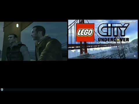 Lego city undercover and gta iv both into on the boat
