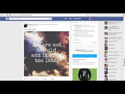 Facebook Home page layout