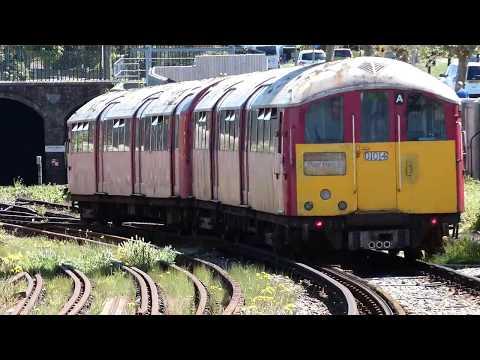 Train departs Ryde Esplanade BR Station Isle of Wight IOW England UK