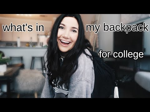 what's in my backpack!! | college backpack must haves