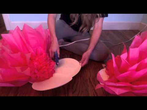 Giant Tissue Flower Tutorial