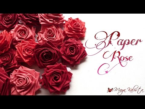 How to make Easy Paper Roses using paper strips - Paper Crafts -  Quick & Easy Tutorial!