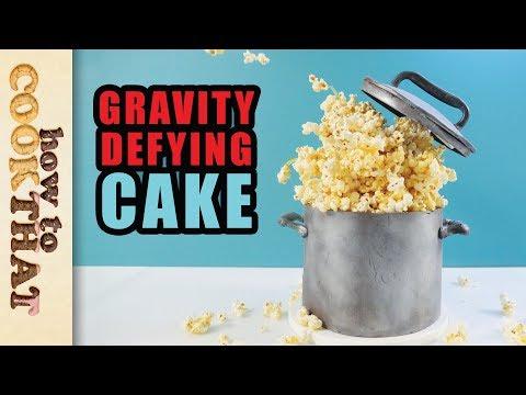 Gravity Defying Caramel Popcorn Cake | How To Cook That Ann Reardon