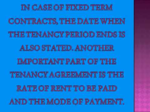Essentials of a Tenancy Agreement
