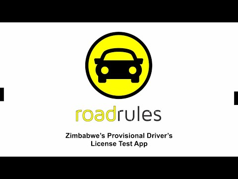 Road Rules App, Zimbabwe's Provisional Driver's License Test App!