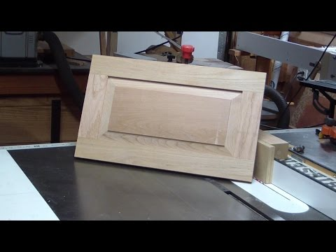 Make a raised panel door with table saw