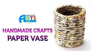 Paper Flower Vase In Handmade Crafts At Amma Arts