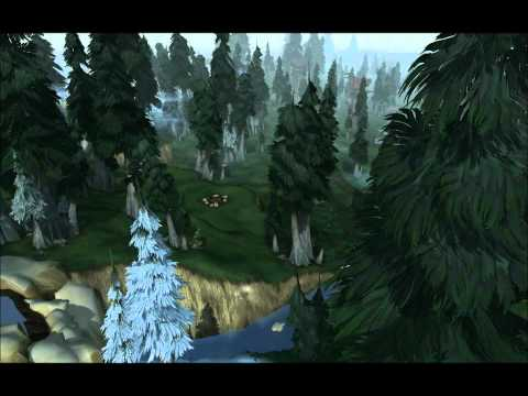 World of Warcraft   Flight of Northrend   Borean Tundra to Howling Fjord and up to Icecrown with Music