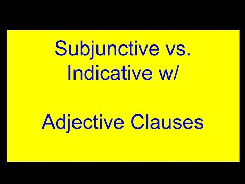 Subjunctive vs. Indicative with Adjective Clauses