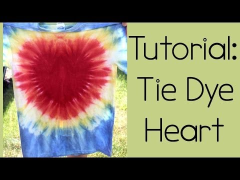 Tutorial: Tie Dyeing a Heart